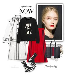 """""Be strong"" I whisper to my coffee"" by blonde-bedu ❤ liked on Polyvore featuring Gucci, Fendi, Chinti and Parker, Melissa and Linda Farrow"