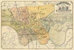 Preston map, 1890.