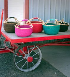 Fair Trade Ghanaian Bolga Basket - Baskets - Shop Nectar - 1