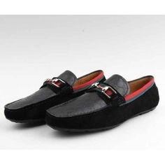 Gucci driver men loafer with horsebit and web detail