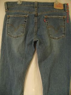 Levi's 513 Junior Premium Denim Jeans Slouch Sz13M StretchBoot W35in.x32in.Insm AND DISCOUNTED PRIORITY SHIPPING!!!