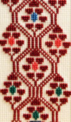 Olia Bseiso - Stained Glass, Wood Burning, and Embroidery Cross Stitch Bookmarks, Cross Stitch Borders, Simple Cross Stitch, Cross Stitch Designs, Cross Stitching, Cross Stitch Patterns, Wool Embroidery, Hardanger Embroidery, Hand Embroidery Stitches