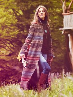 Burda Style Maxi Coat - Bohemian Collection 10/2013