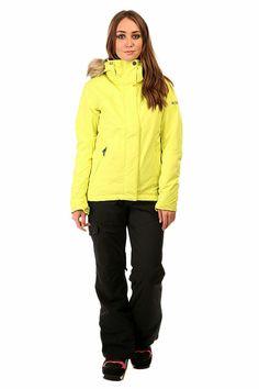 Women's ROXY Jet Limeade Ski Jacket w. Black Ski Pants.