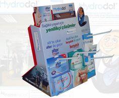 P.O.S.M, plastik stand, plastik tezgah üstü stand, plastic counter display, counter display