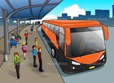 parada de autobus animada - Buscar con Google