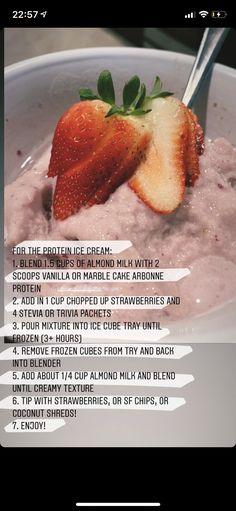 Vanilla Protein Recipes, Arbonne Protein, Protein Ice Cream, Marble Cake, Strawberry Ice Cream, Protein Foods, Almond Milk, Stevia, Health And Wellness