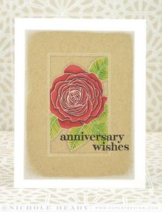 Anniversary Wishes Card by Nichole Heady for Papertrey Ink (April 2014)