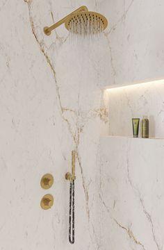 Baby Bathroom, Childrens Bathroom, Bathroom Ideas, White Marble Bathrooms, Small Bathrooms, Bathroom Inspiration, Interior Inspiration, Complete Bathrooms, Bathroom Collections