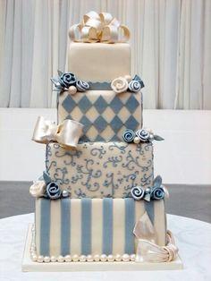 (via Party Cakes) Beautiful Wedding Cakes, Gorgeous Cakes, Pretty Cakes, Amazing Cakes, Take The Cake, Love Cake, Unique Cakes, Creative Cakes, Fondant Cakes