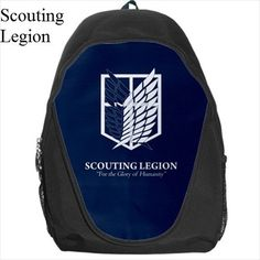Attack On Titan, Backpack, Anime, Manga, Shingeki No Kyojin, Bag, School, Eren, Mikasa, SNK, Schoolbag, Anime Backpack, Back Pack, Anime Bag