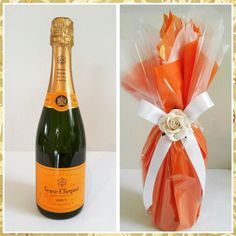 Its time to celebrate. We have officially pinned 16,000 pins! Heres a lovely gift wrapped bottle of Veuve Clicquot Champagne. Please visit www.zoeydezigns.com