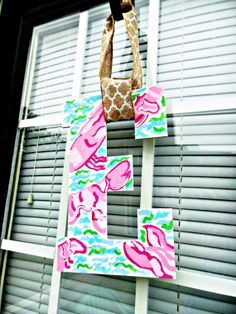 Lilly Pulitzer Inspired Initial Featuring by SouthernErvinLiving, $25.00