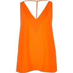 Orange strap back cami $30.00