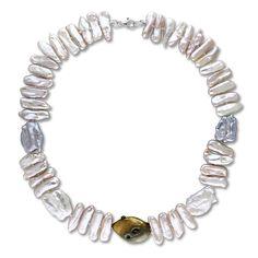 Miadora Sterling Silver Multi-Color Cultured Freshwater Pearl Necklace
