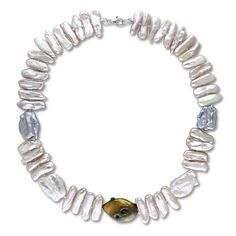Miadora Sterling Silver Multi-Color Cultured Freshwater Pearl Necklace