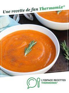 Velouté courgette - Poivron rouge par irina. Une recette de fan à retrouver dans la catégorie Soupes sur www.espace-recettes.fr, de Thermomix®.