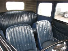a nice original leather interior in a deluxe