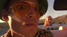 """""""This is Bat Country!"""" Fear and Loathing in Las Vegas directed by Terry Gilliam and starring Johnny Depp in a brilliant turn as Hunter S. Movies About Writers, Hunter Thompson, Las Vegas, Terry Gilliam, Fear And Loathing, Hollywood Hills, Johnny Depp, Here's Johnny, Carnival"""