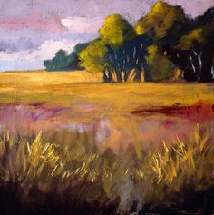 Field Grass Landscape Painting - Nancy Merkle