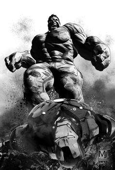 The Incredible Hulk and Iron Man courtesy of MJ Macedo.