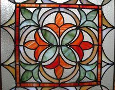 Stained Glass Fleur de Lis Panel by BlueFishStudios on Etsy