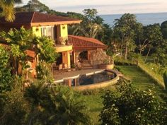 Dominical House Rental: Casa Serendipia! Ocean Front Playa Dominical 3 Minutes Above The Beach!   HomeAway Luxury Rentals