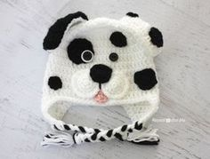 Crochet Dalmatian Dog Pattern