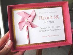 pinwheel box invites