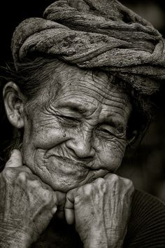 Old age inspiration for someone of Asian descent with the thin eyes and deep wrinkles
