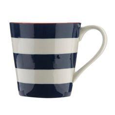 Designer stoneware striped painted mug at debenhams.com