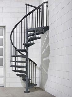 Best Misterstep Gamia Metal Spiral Staircase Kit Silver Grey 400 x 300