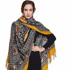 TDynasty African Art Warm Shawls Scarves Printing Fashion Scarf Shawl Winter Scarf Warm Soft Multi-Purpose for Adult Women Gifts