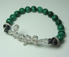 Hope Malachite Stretch Bracelet by HausofTopper