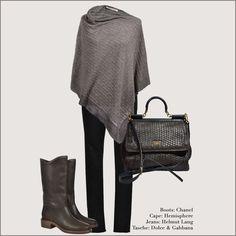 Cape: #Hemisphere #Cashmere Boots: #Chanel Bag: #DolceGabbana Pants: #HelmutLang #Vintage #Fashionblogger #Designer #OnlineShop #Secondhand #MyMint