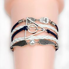2017 Multilayer New Style Leather Owl Leaf Charm Handmade Fashion Women  Bracelet Bangles Jewelry Friendship Gift Wholesale