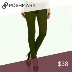 Olive Skinny Denim Jeans 96% Cotton 4% Spandex Jeans Skinny
