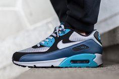 "Nike Air Max 90 Essential ""Squadron Blue & Wolf Grey"" - EU Kicks: Sneaker Magazine"