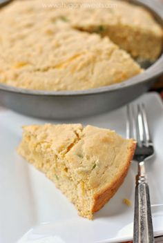 Jalapeno Cheddar Cornbread: easy, delicious, comfort food! Make a pan of these before heading off on a camping adventure and enjoy with any of your campfire meals.