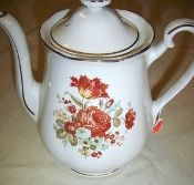 Enterprise Aluminum Autumn Rose  Drip-O-Lator Coffee Pot