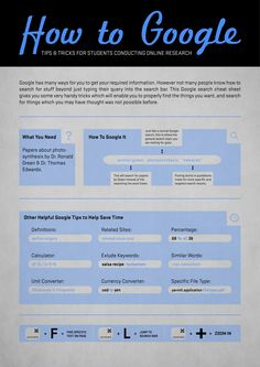 How To Google - Tips & Tricks [Infographics]