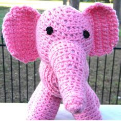 """Crochet amigurumi pink elephant"" #Amigurumi  #crochet"
