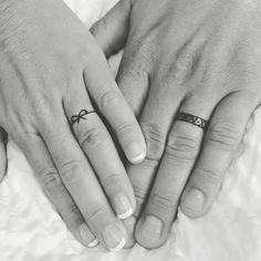 Husband and Wife Wedding Band Tattoos