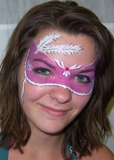 Face Mask Designs - Fantasy Face Painting by Jenny