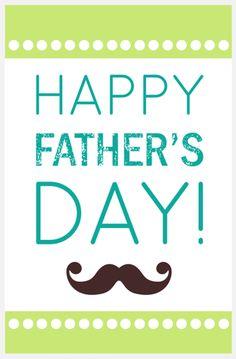 Fathers Day printable card ~#FreePrintable #FathersDay