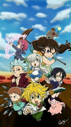 Nanatsu no Taizai Chibi The Seven Deadly Sins Seven Deadly Sins Tattoo, Seven Deadly Sins Anime, 7 Deadly Sins, Otaku Anime, Manga Anime, Anime Art, Chibi, Meliodas And Elizabeth, Elizabeth Liones