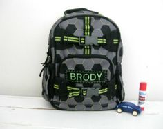 Personalized  Baby Backpack Pottery Barn (mini size) -- Green Soccer Baby Backpack, Soccer Boys, World Cup 2014, Personalized Baby, Pottery Barn, Under Armour, Backpacks, Mini, Green