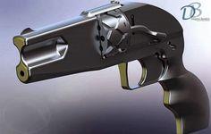 Blog do Diogenes Bandeira: Revólver criado em impressão 3D, atira balas reais...