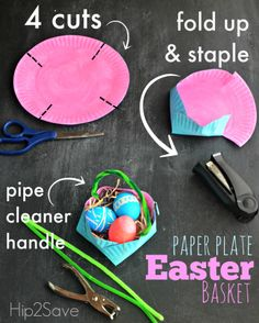 How to make a basket out of a paper plate - Hip2Save