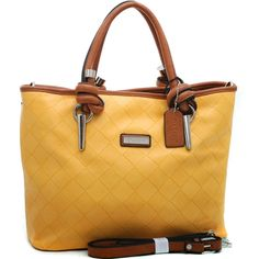 Dasein Wesen® Knotted Handle Tote yellow